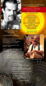 Geoffrey Gordon Memorial Concert
