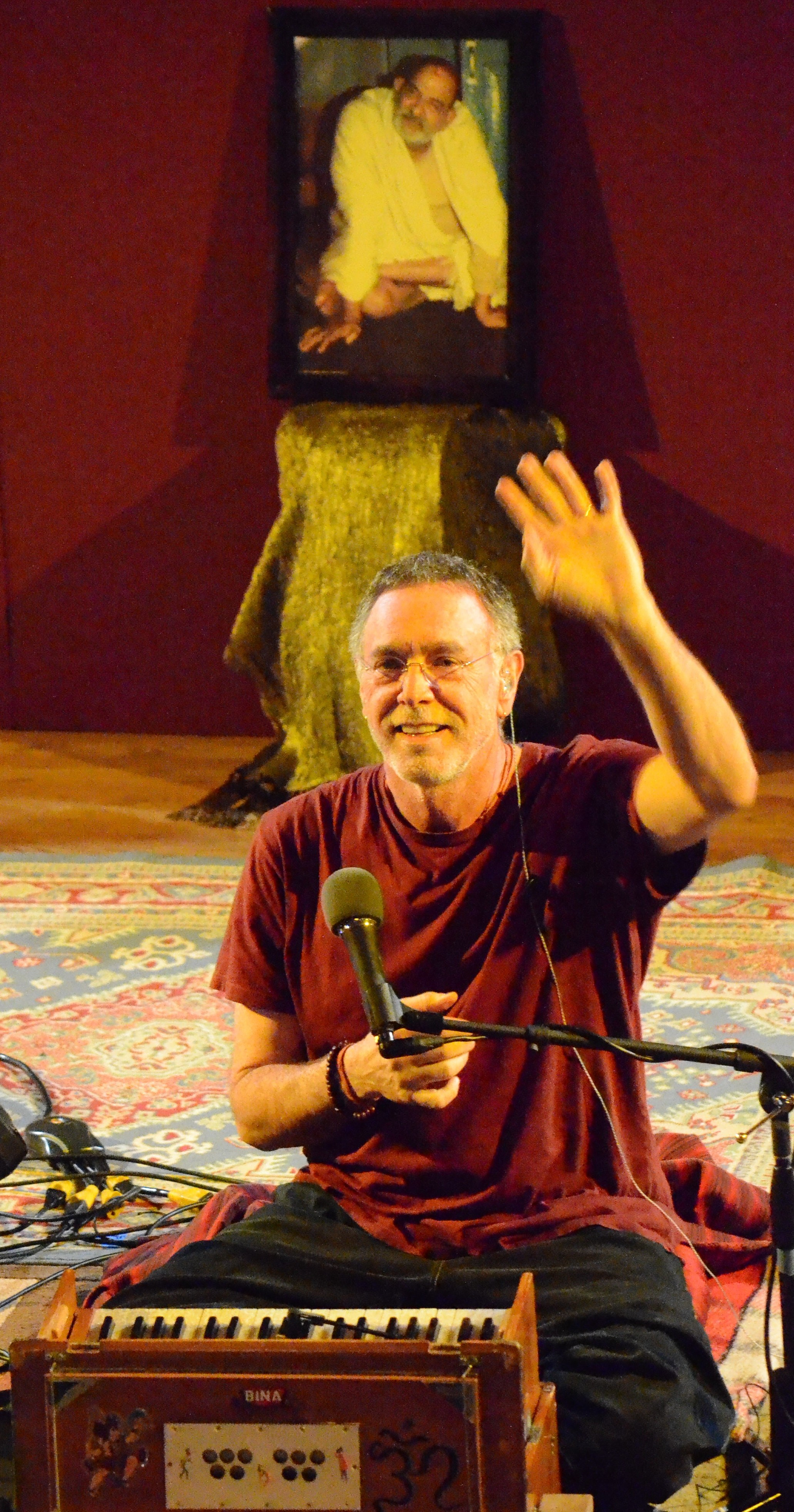 Krishna Das, Chantmaster, at Chantlanta, by TheBhaktiBeat.com