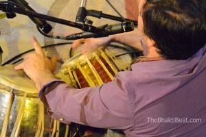Jeffrey Lidke, tabla, at Chantlanta by TheBhaktiBeat.com