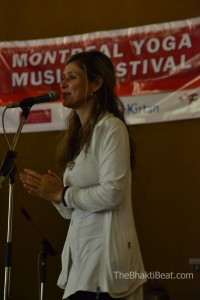 Lea Longo, founder of the Montreal Chant Fest, by TheBhaktiBeat.com