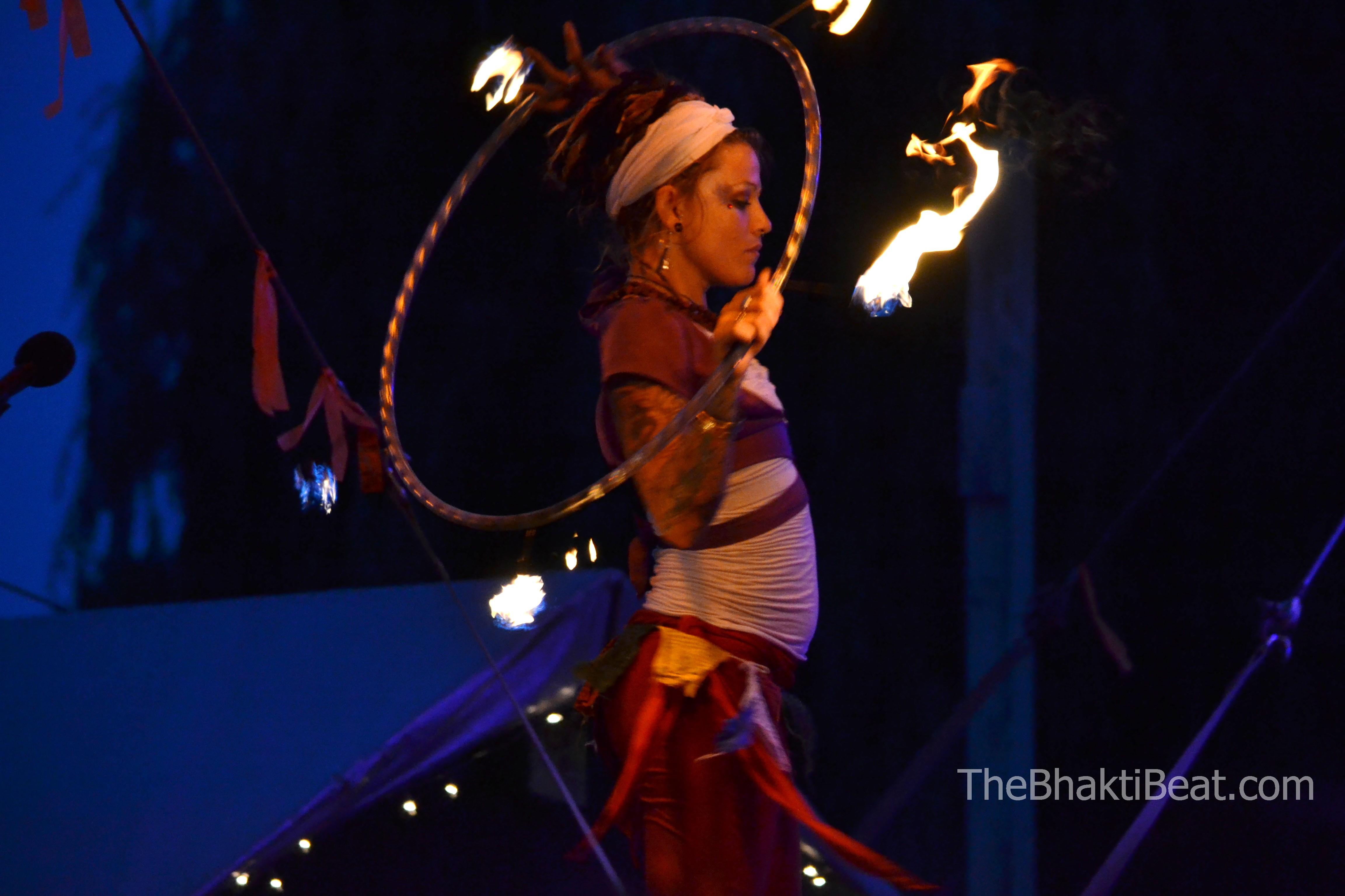 Firedancer at Bhakti Fest Midwest, by TheBhaktiBeat.com